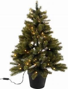 Tannenbaum Im Topf : premium tannenbaum mit schwarzem kunststoff topf und led lichterkette batteriebetrieben online ~ Frokenaadalensverden.com Haus und Dekorationen