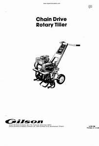 Vintage 1970s Gilson Rotary Tiller Manual