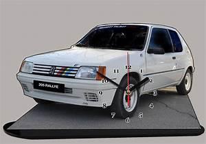 Peugeot 205 Rallye Blanche En Miniature Auto Horloge