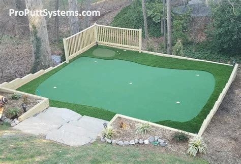 Backyard Artificial Putting Green - do it yourself putting greens custom putting greens