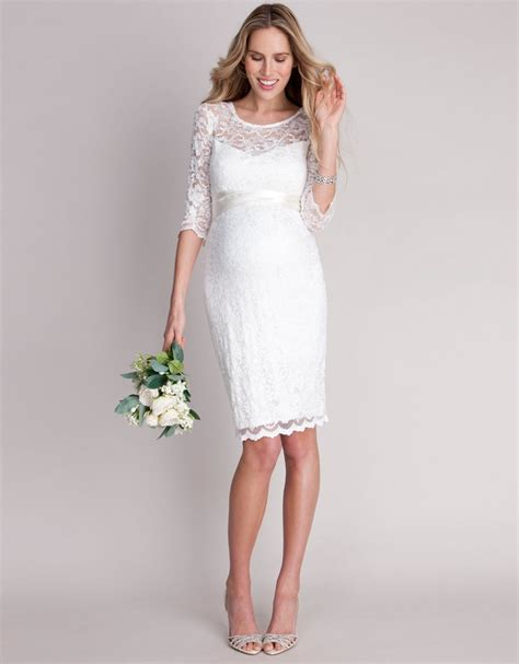 Ivory Lace Maternity Cocktail Dress Seraphine