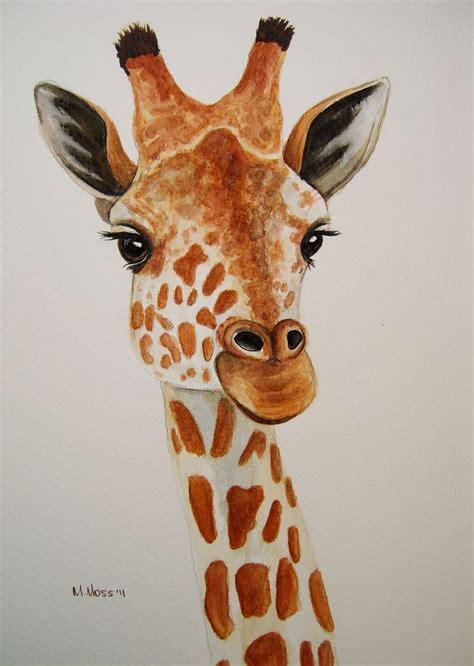 giraffe portrait  watercolour art  love pencil