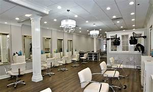maxlite led lamps help hair salon highlight its services With interior hair salon lighting ideas