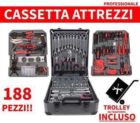 Cassetta Attrezzi Trolley Cassetta Da Lavoro Attrezzi 188 Pezzi Con Trolley