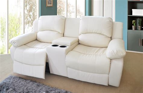 sofa with two recliners valencia 2 seater bonded leather recliner sofa with