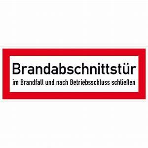 Rettungsleitern Für Den Brandfall : hinweisschild f r den brandschutz brandabschnittst r ~ Lizthompson.info Haus und Dekorationen