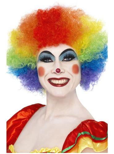peluca de payaso loco arco iris disfraz funidelia