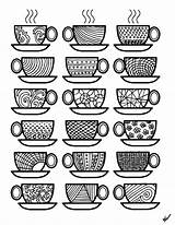 Coloring Coffee Pages Cups Colouring Adult Printable Sheets Adults Printables Theme Popsugar Para Print Colorear Momsandcrafters Feel Again Kid Stress sketch template