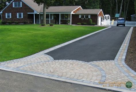 driveway borders driveway with paver apron and borders pave stone walks patios pinterest landscape