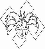 Jester Coloring Tattoo Joker Hat Stencils Gras Mardi sketch template