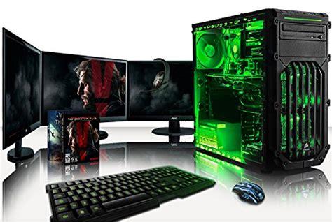 vibox warrior paquet 7 4 0ghz gamer gaming pc ordinateur de bureau avec 3x ecrans