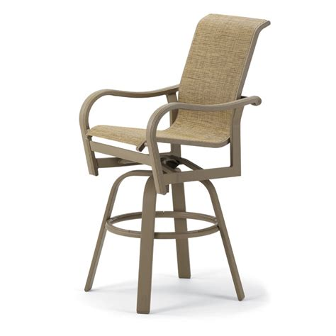 ii sling patio counter height swivel bar arm chair