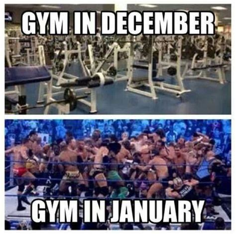 New Years Gym Meme - fitness workout funnies