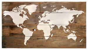 large barn wood world map rustic wall decor by With kitchen cabinets lowes with antique world map wall art