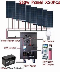 New 8kw Solar Power Generator System For 110v  220v Home