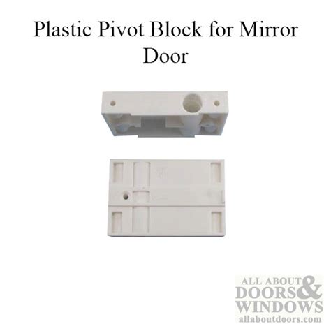 closet door part plastic pivot block mirror door