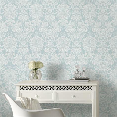 graham brown cm   venetian damask blue wallpaper