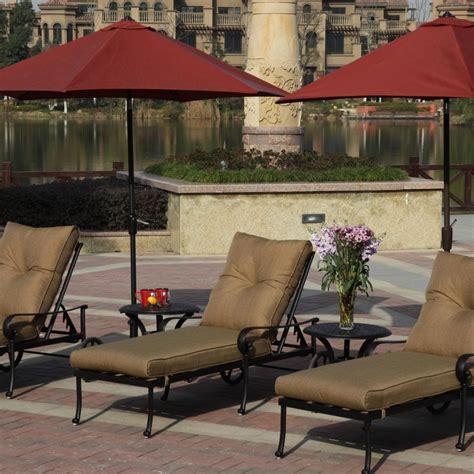 darlee santa 7 cast aluminum patio chaise