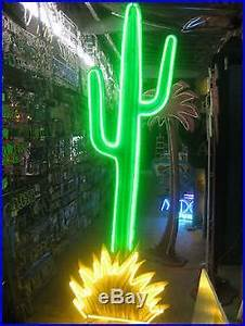 Vintage 1980's NEON CACTUS Sign HUGE 9 FT Tall Movie