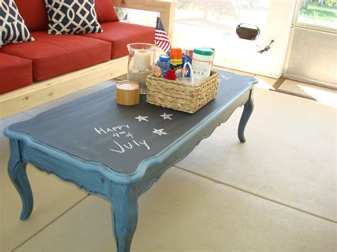 stolen idea chalkboard top coffee table kyle not really