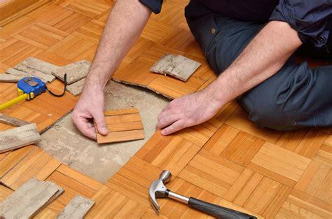 repairing  oak parquet floor  flooring lady