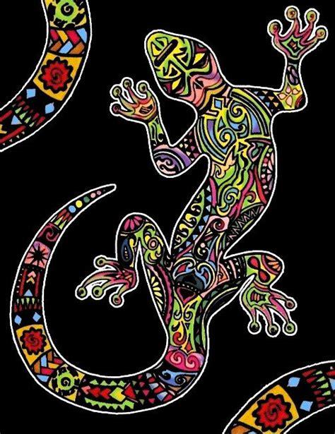 quadro  velluto da colorare pennarelli inclusi geco