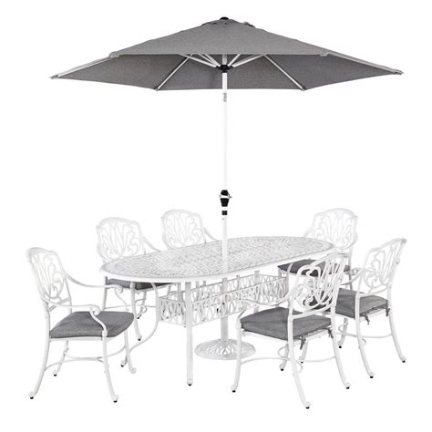 home styles floral blossom white 7 piece patio dining set