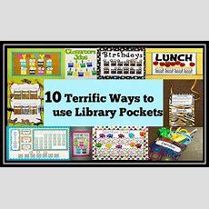 10 Terrific Ways To Use Library Pockets  Teacher Created Tips