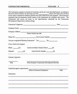contractor proposal template 13 free word document With contractors bid template