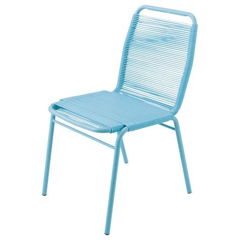 chaise metal maison du monde chaise de jardin en polyéthylène et métal turquoise scoubi