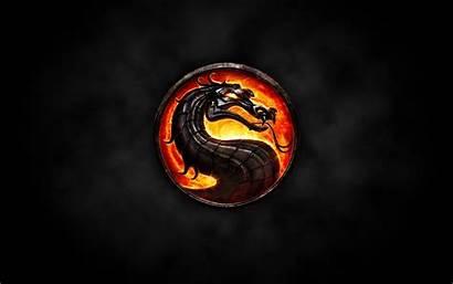 Mortal Kombat Circle Flame Font Shape Darkness