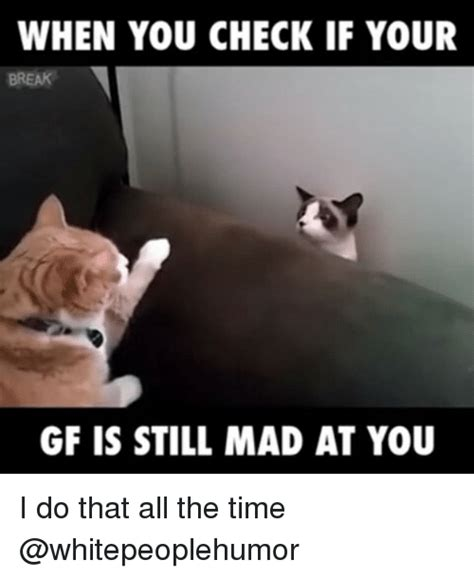 Still Mad Meme - when you check if your gf is still mad at you i do that all the time funny meme on sizzle