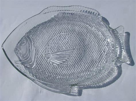 vintage fish shape glass seafood serving platter