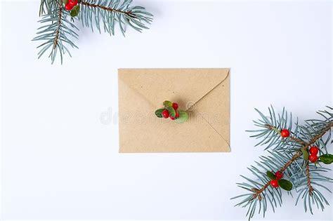 paper card  letter envelope  xmas decoration flat