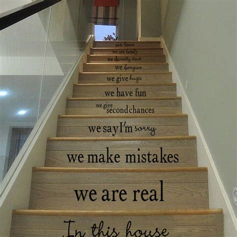 diy wall stickers stairs decal home decor decoracao
