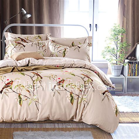 4pc duvet cover set fresh style cotton pattern queen king