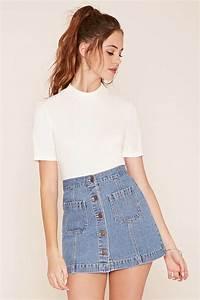 Best 25+ Denim skirts ideas on Pinterest | Denim skirt Jean skirts and Jean skirt