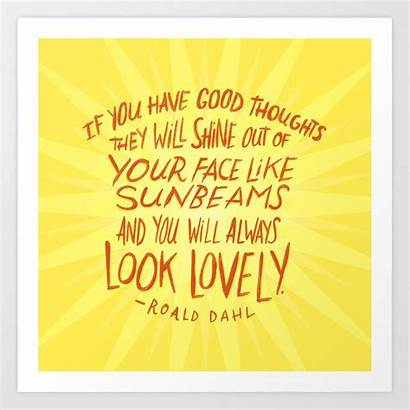 Positive Thinking Roald Dahl Society6 Prints