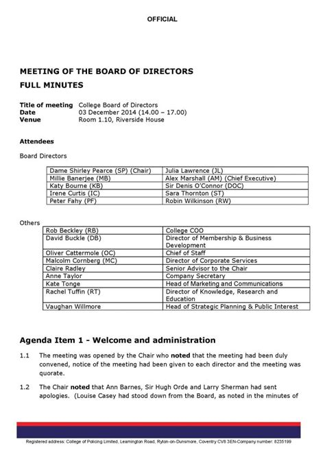 board  directors meeting agenda sample