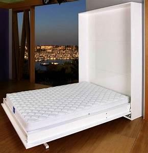 Lit Dans Armoire : lit armoire escamotable slim ~ Premium-room.com Idées de Décoration