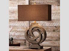 Rustic Table Lamps Infinity Branch Table LampBlack