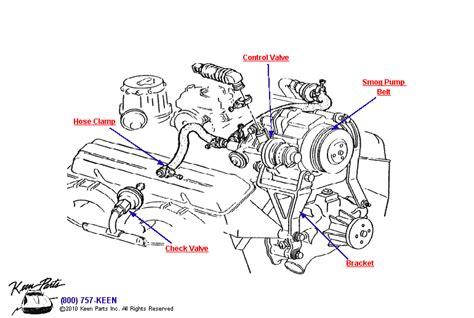 1986 Corvette Smog Diagram by 1982 Corvette Air System Parts Parts Accessories For