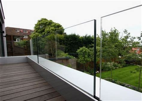 Outdoor Glass Panel Railings Frameless U Channel Glass