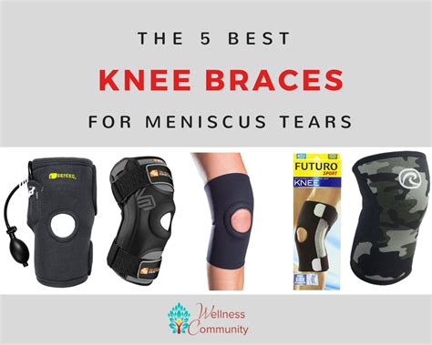 Knee support for meniscus tear