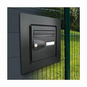 Passe Boite Aux Lettres : cadre d 39 encastrement bo te aux lettres noir 156209 ~ Dailycaller-alerts.com Idées de Décoration