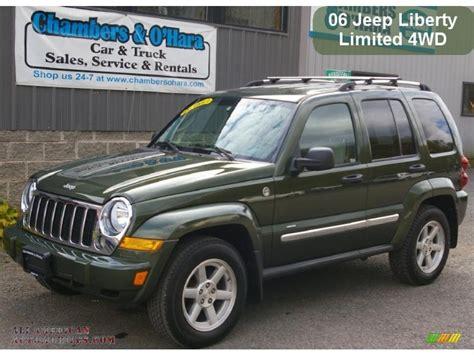dark green jeep liberty 2006 jeep liberty limited 4x4 in jeep green metallic photo