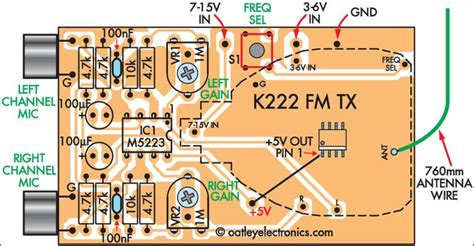 Quality Stereo Wireless Microphone Audio Link Circuit