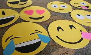 How to Make Cardboard Emoji Faces - DIY Inspired