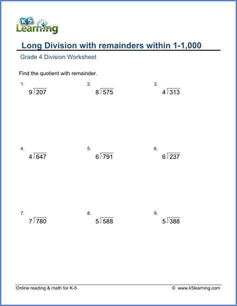 grade  math worksheet dividing    digit numbers
