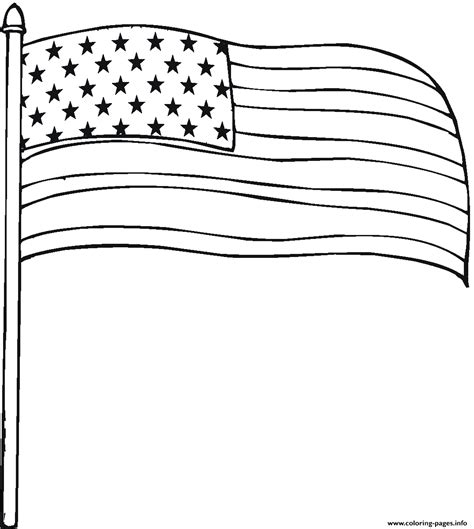 country american flag coloring pages printable